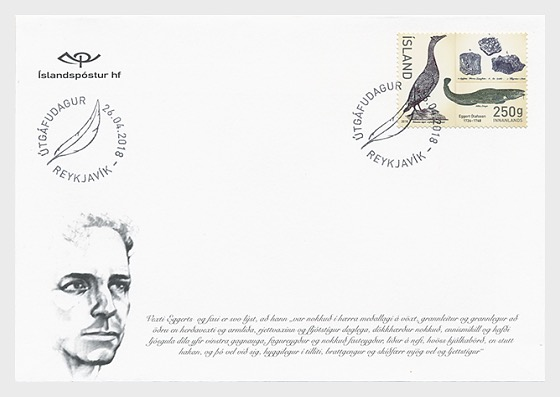 Eggert Olafsson 250th Anniversary - (FDC Stamp) - First Day Cover