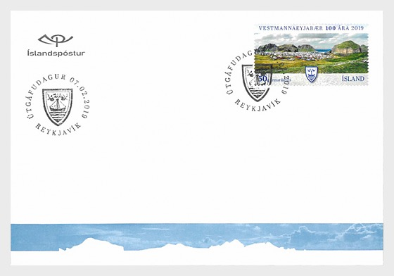 The Municipality of Vestmannaeyjar - 100th Anniversary - First Day Cover
