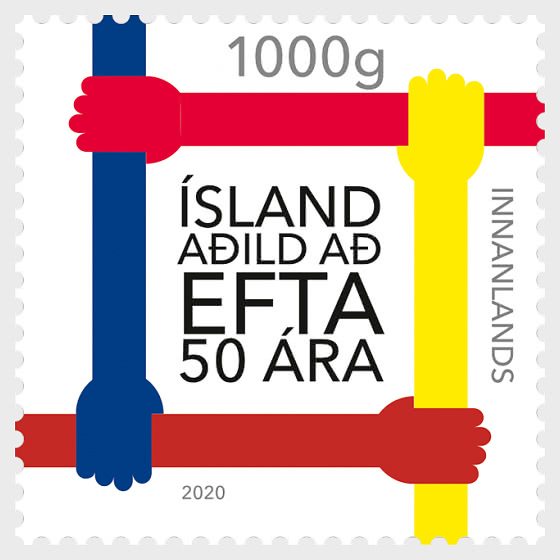 Iceland 50 years a member of EFTA - Set