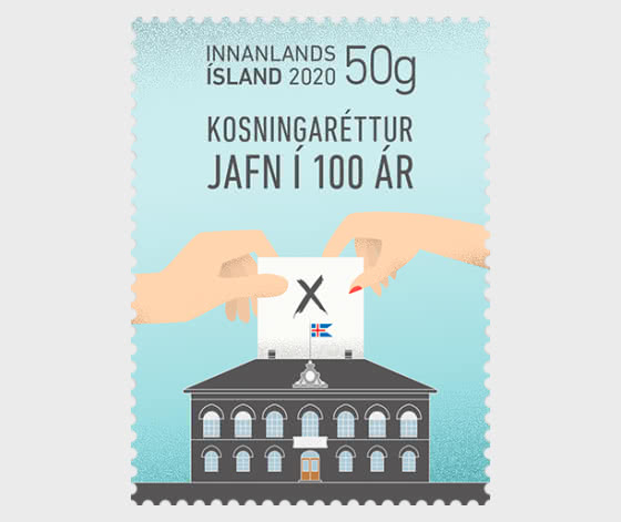 100 Years of Equal Voting Rights for all Icelandic Citizens - Set