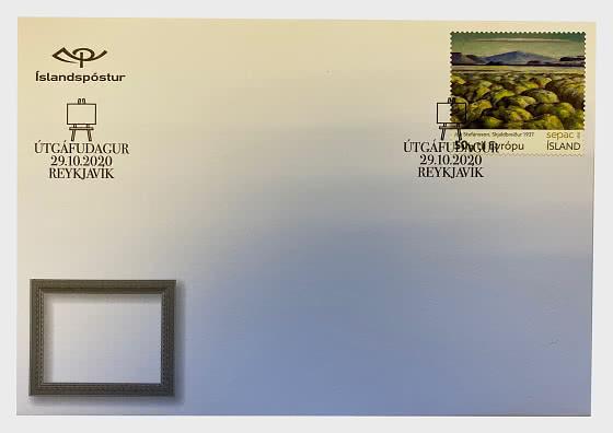 SEPAC 2020 – Artwork  from the National Gallery of Iceland - Jón Stefánsson – Skjaldbreiður 1937 - Sobre de Primer Dia