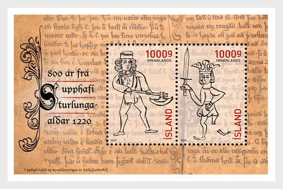 800 Years Since The Start Of The Age Of The Sturlungs In 1220 - Miniature Sheet