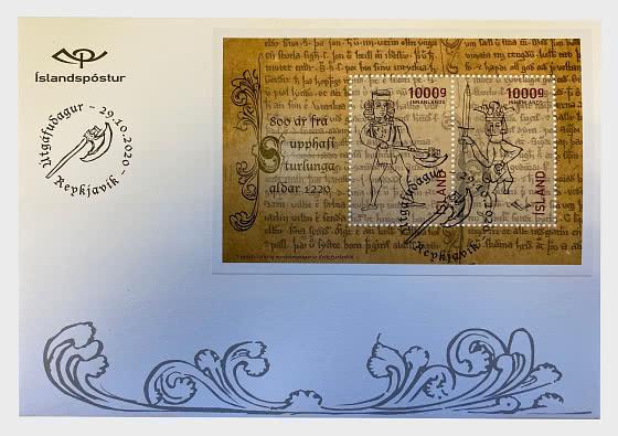 800 Años Desde El Inicio De La Era De Los Sturlungs En 1220 - Sobre de Primer Dia