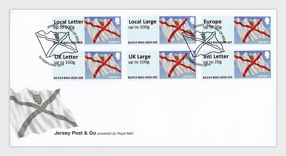 Jersey Joins Post & Go  - First Day Cover