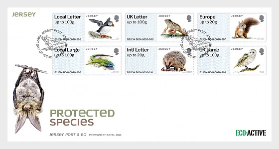 Jersey specie protette - FDC