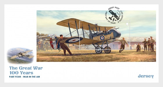 The Great War – 100 Years, Part Four: War in the Air (FDC-MS) - First Day Cover