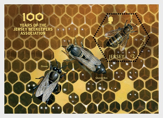 100 Years of the Jersey Beekeepers Association - Miniature Sheet