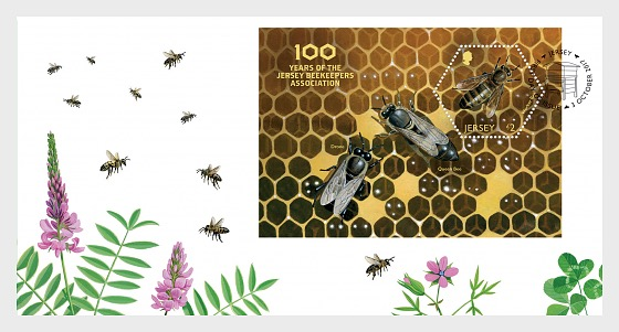 100 Years of the Jersey Beekeepers Association (FDC-MS) - First Day Cover