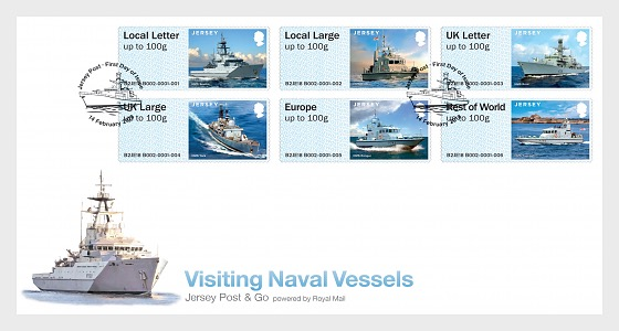Jersey Post & Go - Visiting Naval Vessels - First Day Cover