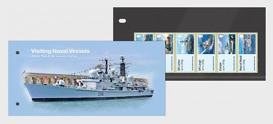 Jersey Post & Go - Visiting Naval Vessels - Presentation Pack