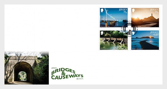 Europa 2018 - Jersey Bridges & Causeways -  FDC Set - First Day Cover