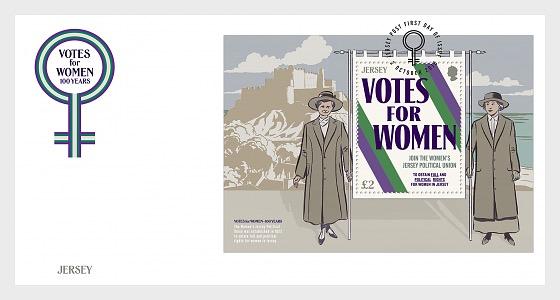 Votos para mujeres - 100 años - Sobre de Primer Dia