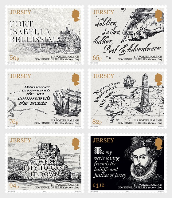 Sir Walter Raleigh, Governor of Jersey 1600-1603 - Set