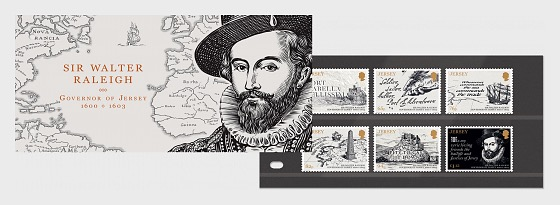 Sir Walter Raleigh, Governatore di Jersey 1600-1603 - Presentation Pack