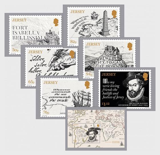 Sir Walter Raleigh, Governor of Jersey 1600-1603 - Postcard