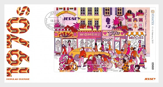 Stampex Overprinted M/S - Popular Culture - The 1970s - FDC