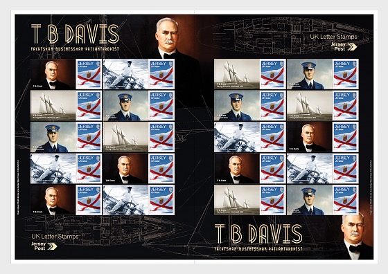 T.B. Davis 150th Birthday - Commemorative Sheet - Full sheets