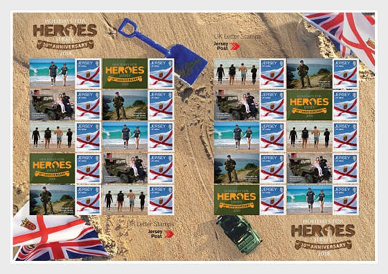 Holidays for Heroes Jersey 10th Anniversary - Commemorative Sheet - Full sheets
