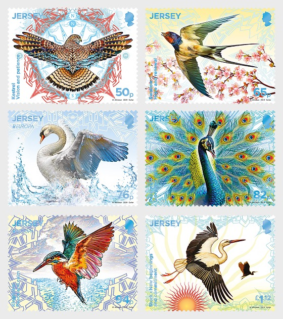 Europa 2019 – National Birds: Birds & Symbolism - Set
