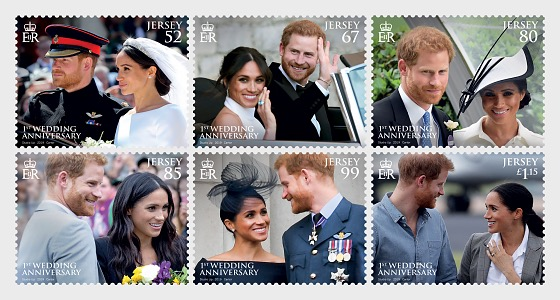 TRH The Duke & Duchess of Sussex - 1st Wedding Anniversary - Set