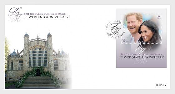 Duque y Duquesa de Sussex - 1er Aniversario de Boda - Sobre de Primer Dia