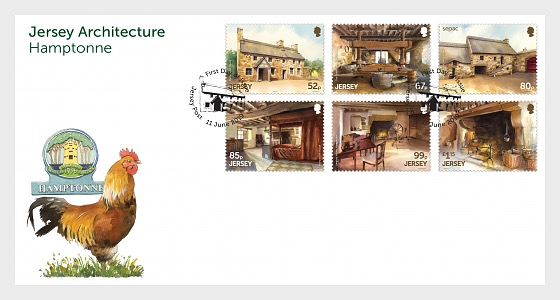 Jersey Architecture Hamptonne - First Day Cover