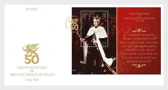 L'Investitura di SAR Il Principe di Galles, 1 luglio 1969, 50 ° Anniversario - FDC