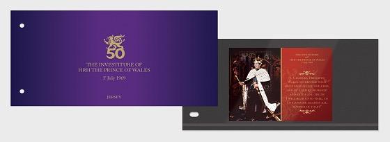 L'Investiture de SAR le Prince de Galles 1er Juillet 1969 50ème Anniversaire - Paquet de présentation