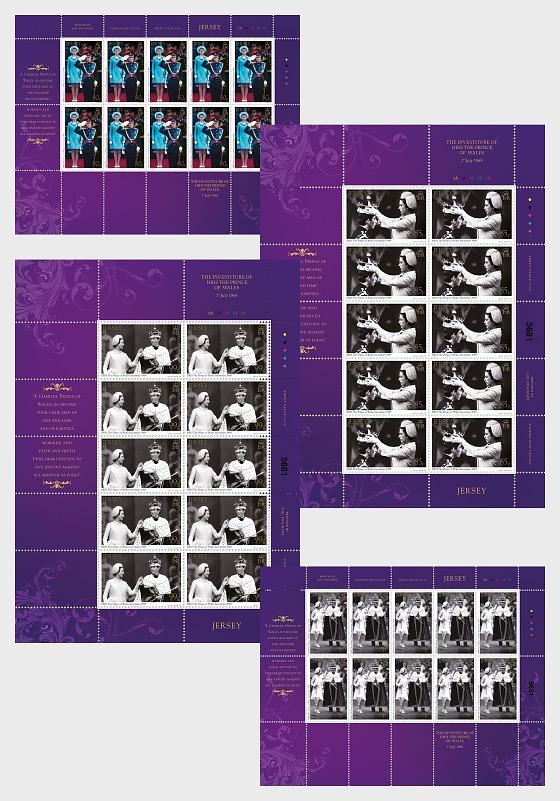 L'Investiture de SAR le Prince de Galles 1er Juillet 1969 50ème Anniversaire - Mini-feuilles