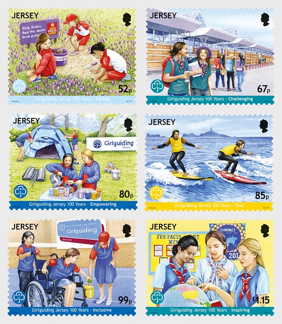 Jersey Girlguiding 100 Years - Set