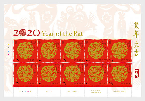 Lunar New Year 2020 - Year of the Rat - Sheetlets