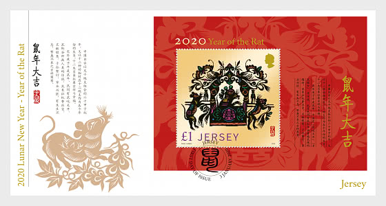 Lunar New Year 2020 - Year of the Rat - FDC M/S - First Day Cover