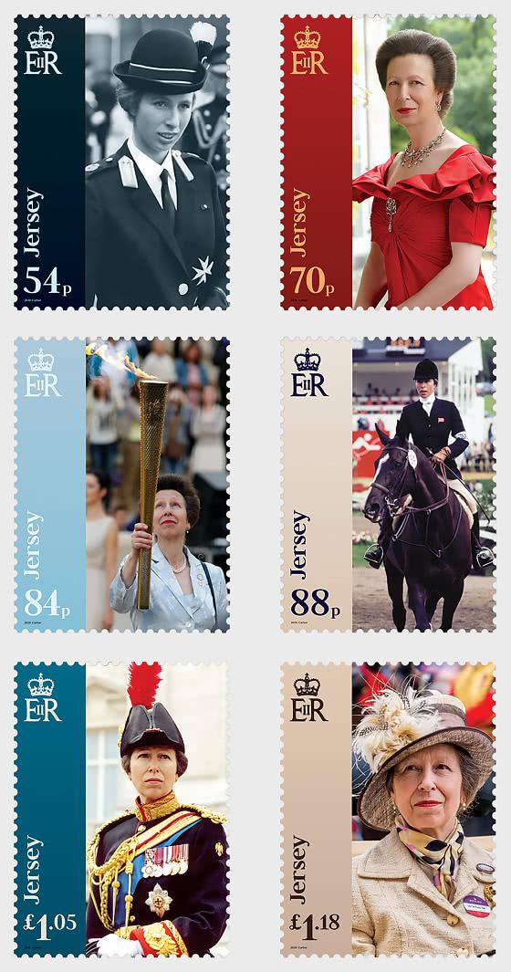 Celebrating the 70th Birthday of HRH The Princess Royal - Set Mint - Set