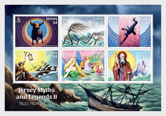 Myths & Legends II – Tales from the Sea - SS Mint - Souvenir Sheet