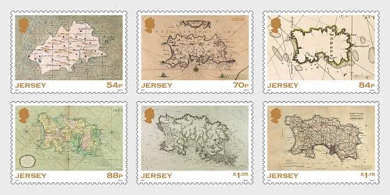 SEPAC Historic Jersey Maps - Mint - Set