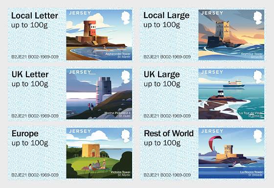 Post & Go - Coastal Towers - Mint - Set