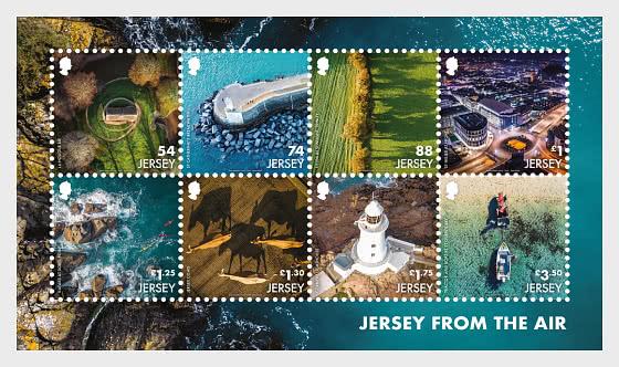 Jersey From The Air - SS Mint - Miniature Sheet
