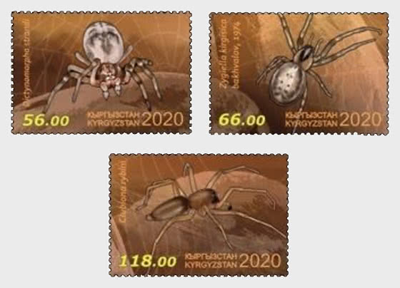 Fauna of Kyrgyzstan -  Spiders - Set
