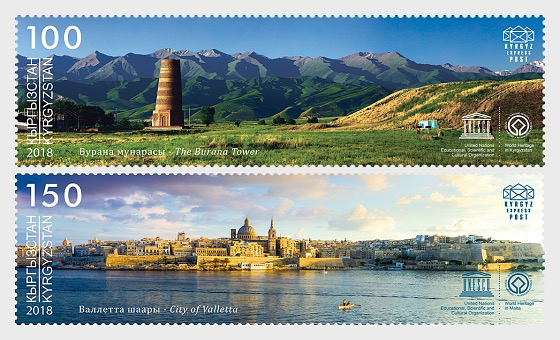 Joint Stamp Issue - Kyrgyzstan with Malta - (Set Mint) - Set