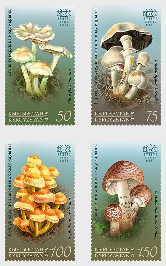 Poisonous Mushrooms of Kyrgyzstan - Set Mint - Set