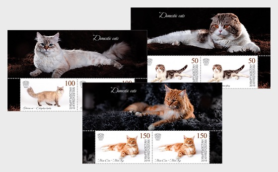 Domestic Cats - Set of Se-Tenants - Souvenir Sheet