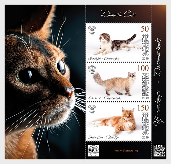 Domestic Cats - M/S Mint - Miniature Sheet