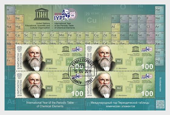 Das internationale Jahr des Periodensystems der chemischen Elemente - Sonderblock CTO