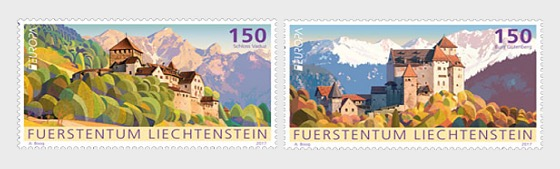 Europa 2017 – Palaces and Castles- (Set Mint) - Set