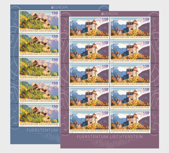 Europa 2017 – Palaces and Castles- (Sheetlet Mint) - Sheetlets