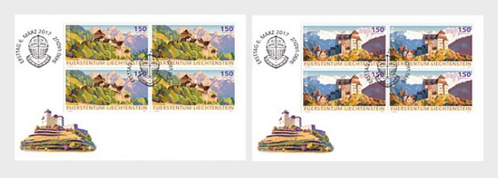 Europa 2017 – Palaces and Castles- (FDC Block of 4) - First Day Cover block of 4