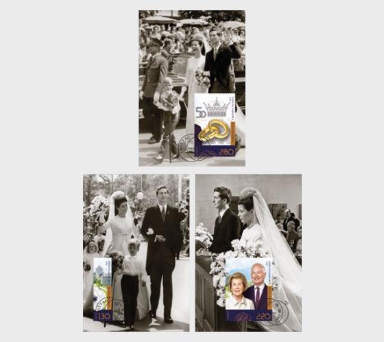 Golden Wedding of Prince Hans-Adam II and Princess Marie of Liechtenstein - Maxi Cards
