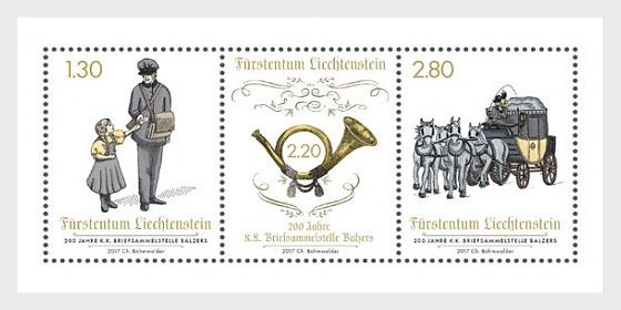 200 Years of the K. K. Briefsammelstelle Balzers - (M/S Mint) - Miniature Sheet