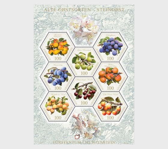 Old Fruit Varieties - Stone Fruit - (Special Stamp Set Mint) - Set