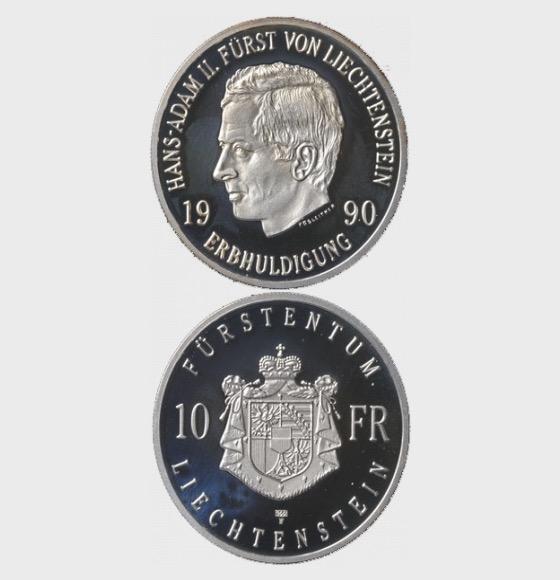 遗传参拜汉斯 - 亚当二世(1990) - 银币